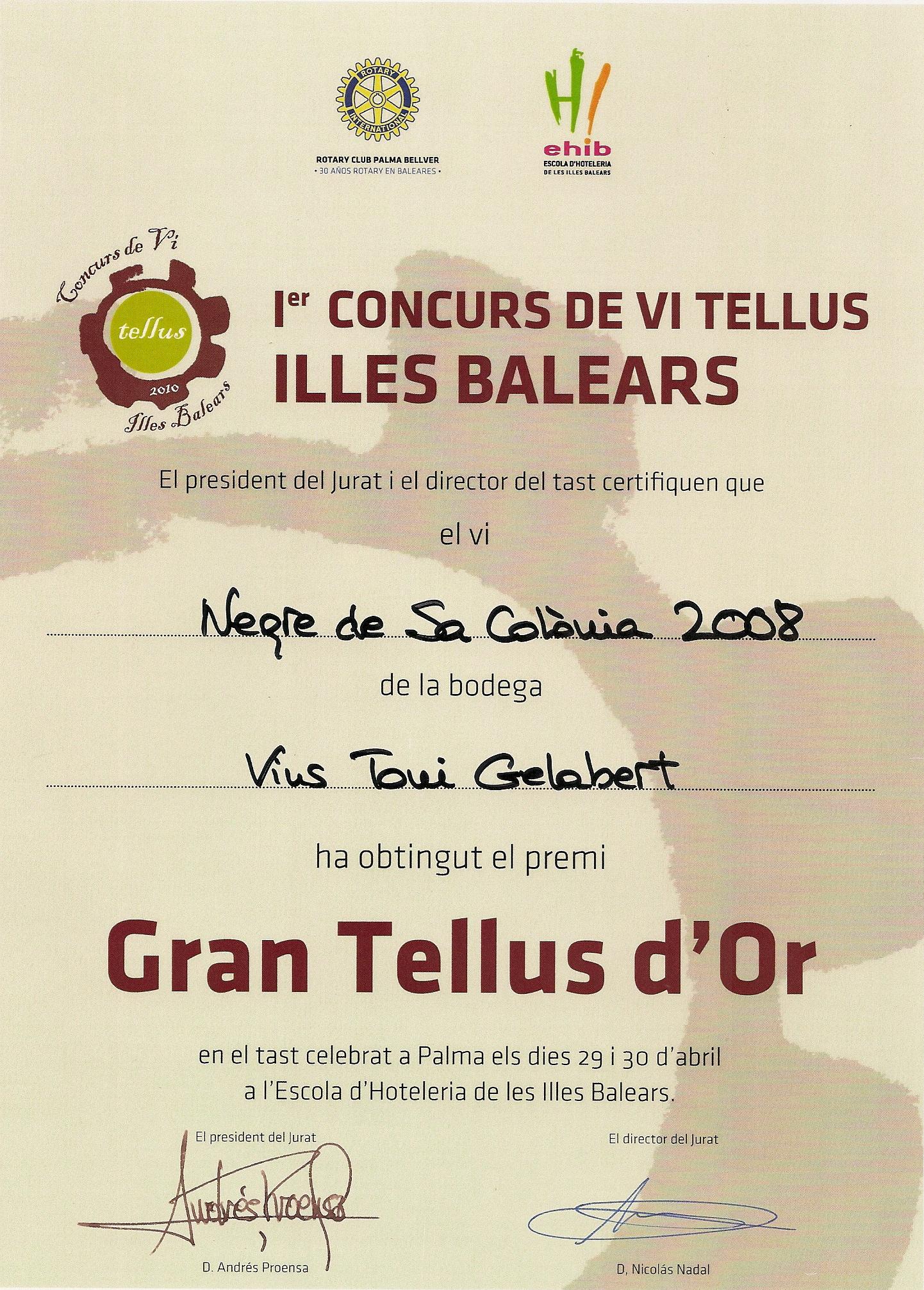 I concurso de vino Tellus Rotary Illes Balears